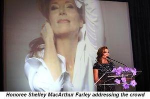 Blog 6 - Honoree Shelley MacArthur Farley addressing the crowd
