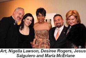 Blog 12 - Art, Nigella Lawson, Desiree Rogers, Jesus Salguiero and Maria McErlane