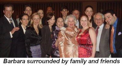 Blog 2 - Barbara surrounded by family and friends