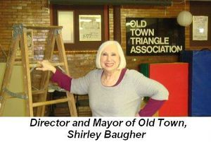 Blog 1 - Director and Mayor of Old Town, Shirley Baugher