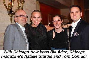 Blog 8 - With Chicago Now boss Bill Adee, Chicago Magazine's Natalie Sturgis and Tom Conradi