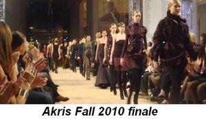Blog 1 - Akris Fall 2010 finale