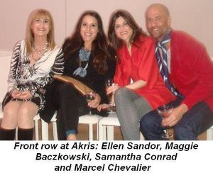 Blog 2 - Front row at Akris Ellen Sandor, Maggie Baczkowski, Samantha Conrad and Marcel Chevalier