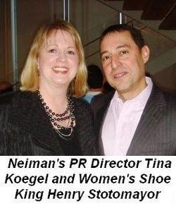 Blog 6 - With Neiman's PR Director Tina Koegel and Women's Shoe King Henry Sotomayor