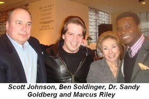 Blog 4 - Scott Johnson, Ben Soldinger, Dr. Sandy Goodberg and Marcus Riley