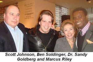 Blog 4 - Scott Johnson, Ben Soldinger, Dr. Sandy Goodberg and Marcus Riley