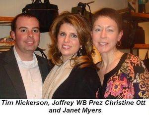 Blog 8 - Tim Nickerson, Joffrey WB Prez Christine Ott and Janet Myers