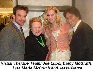 Blog 1 - Visual Therapy's Team Joe Lupo, Darcy McGrath, Lisa Marie McComb and Jesse Garza