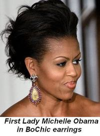 Blog 5 - First Lady Michelle Obama in BoChic earrings