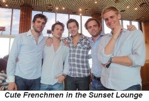 Blog 3 - Cute Frenchmen in the Sunset Lounge