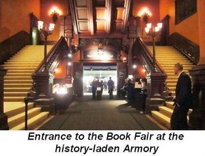 Blog 5 - Entrance to the Book Fair at the history laden Armory
