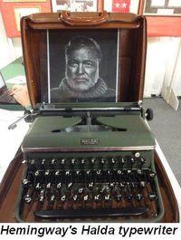 Blog 6 - Hemingway's Halda typewriter