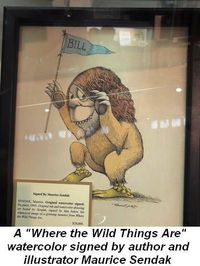 Gallery - A watercolor by Maurice Sendak Where the Wild Things Are for $24K
