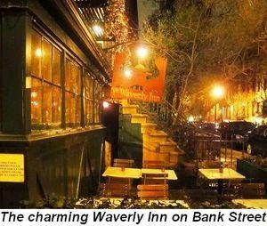 Blog 15 - The charming Waverly Inn on Bank Street