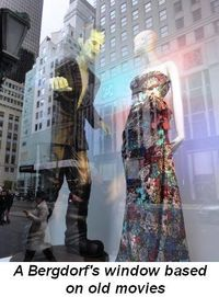 Gallery - A Bergdorf's window based on old movies