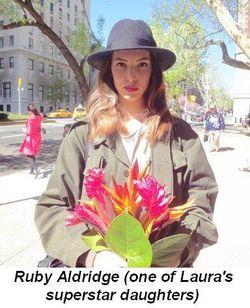 Blog 17 - Ruby Aldridge--Laura's superstar daughter