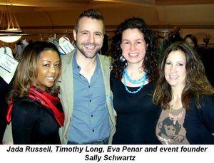 Blog 1 - Jada Russell, Timothy Long, Eva Penar and event founderSally Schwartz