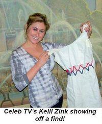 Blog 4 - Celeb TV's Kelli Zink showing off a find