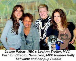 Blog - Leslee Patras, NBC's LeeAnn Trotter, MVC Fashion Director Nena Ivon, MVC Founder Sally Schwartz