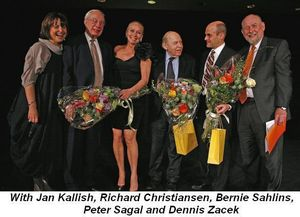 Blog 1 - With VGT Exec Dir Jan Kallish, Chicago Trib chief critic Richard Christiansen, playwrights Peter Sagal, Bernie Sahlins and VGT Art Dir Dennis Zacek