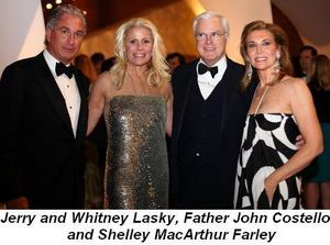 Blog 10 - Jerry and Whitney Lasky, Father John Costello and Shelley MacArthur Farley