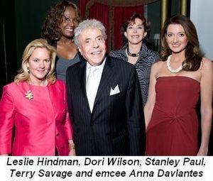 Blog 3 - Leslie Hindman, Dori Wilson, Stanley Paul, Terry Savage and Emcee Anna Davlantes