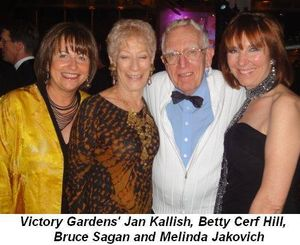 Blog 6 - Victory Garden's Jan Kallish, Betty Cerf Hill, Bruce Sagan and Melinda Jakovich