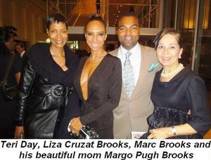 Blog 2 - Teri Day, Liza Cruzat Brooks, Marc Brooks and his beautiful mom, Margo Pugh Brooks