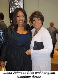 Blog 4 - Linda Johnson Rice and her glam daughter Alexa