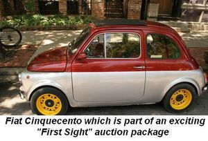 "Fiat Cinquecento which is part of an exciting ""First Sight"" auction package"