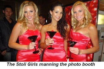 Blog 5 - The Stoli girls man the photo booth