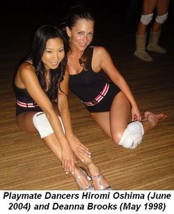 Blog 6 - Dancing Playmates Hiromi Oshima June 2004 and Deanna Brooks May 1998