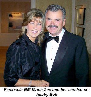 Blog 2 - Peninsula GM Maria Zec and her handsome hubby Bob