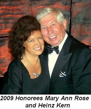 Blog 8 - 2009 Honorees Mary Ann Rose and Heinz Kern