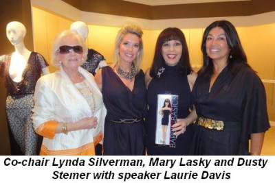 Blog 1 - Co-Chairs Lynda Silverman, Mary Lasky and Dusty Stemer with speaker Laurie Davis