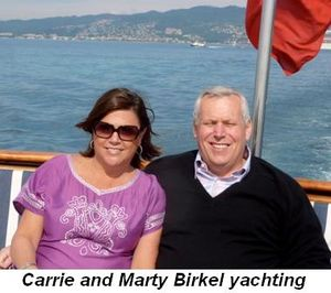 Blog 1 - Carrie and Marty Birkel yachting