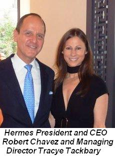 Blog 1 - Hermes President and CEO Robert Chavez and Managing Director Tracye Tackbary