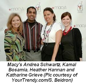 Blog 2 - Macy's Andrea Schwartz, Kamal Bosamia, Heather Hannan and Katharine Grieve Pic courtesy of YourTrendycomSBeidron