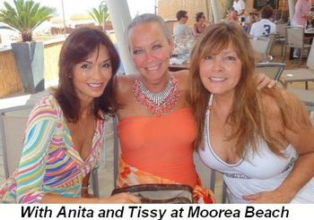Blog 9 - With Anita and Tissy Eggleston at Moorea Beach