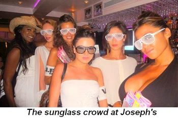 Blog 19 - The sunglass crowd at Joseph's