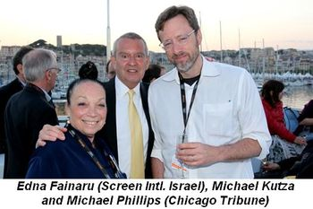 Blog 6 - Edna Fainaru (Screen Intl. Israel), Michael Kutza, and Michael Phillips (Chicago Tribune)