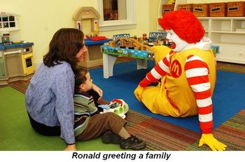 Blog 1 - Ronald greeting a family