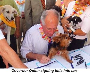 Blog 1 - Governor Quinn signs bills into law