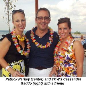 Blog 9 - Patrick Parkey (center) and TCW's Cassandra Gaddo (right) with a friend