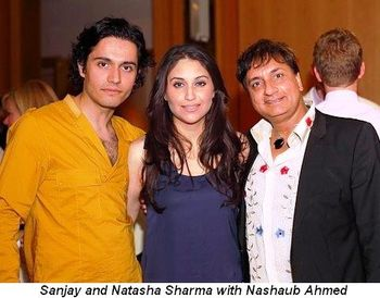 Blog 6 - Sanjay and Natasha Sharma with Nashaub Ahmed