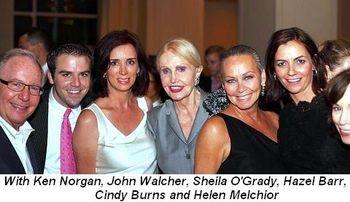 Blog 17 - With Ken Norgan, John Walcher, Sheila O'Grady, Hazel Barr, Cindy Burns and Helen Melchior