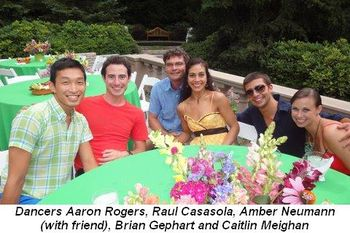 Blog 5 - Dancers Aaron Rogers, Raul Casasola, Amber Neumann (with friend), Brian Gephart and Caitlin Meighan