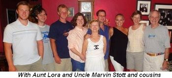 Blog 11 - With Aunt and Uncle Lora and Marvin Stott and cousins