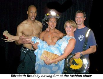 Blog 18 - Elizabeth Brodsky having fun at the fashion show