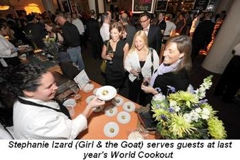 Blog - Chef Stephanie Izard (Girl & the Goat) serves guests at last year's World Cookout